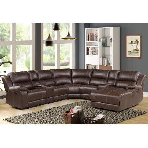 LAF CONSOLE LOVESEAT W/2 RECLINERS W/POWER FR