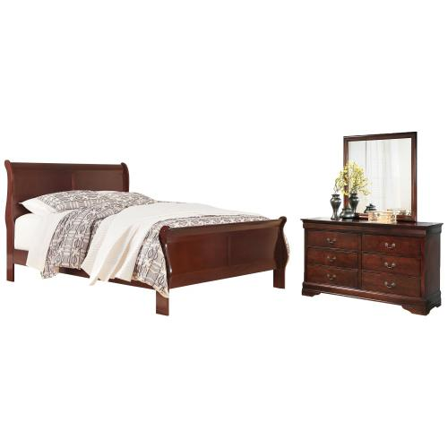 Ashley - California King Sleigh Bed With Mirrored Dresser