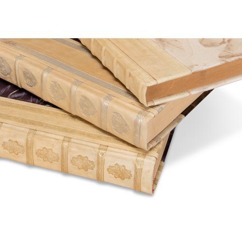 White Leather & Paper Books,S/24