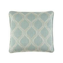 Toss Pillow with a Blue Geometric Pattern