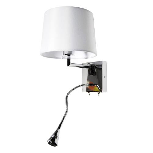 Wall Sconce W/reading Lamp, PC Finish