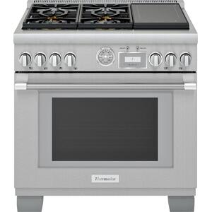 ThermadorDual Fuel Professional Range 36'' Pro Grand® Commercial Depth Stainless Steel PRD364WIGU