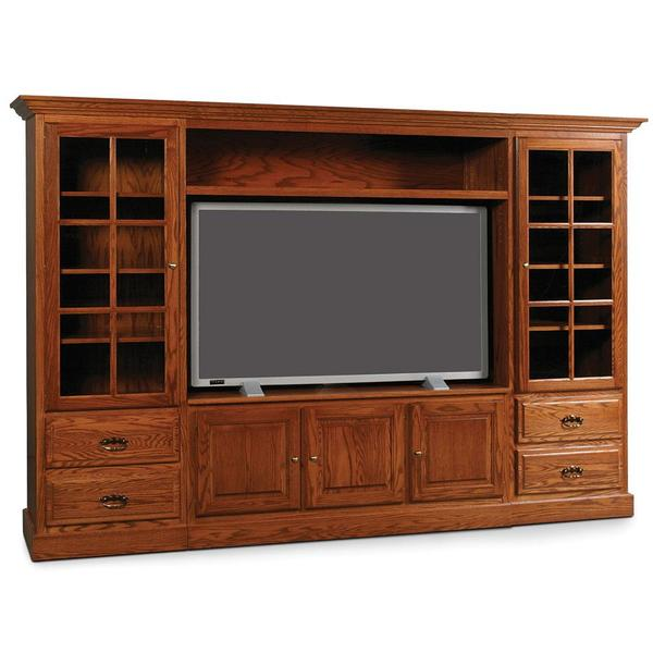 See Details - Classic Wall Unit Entertainment Center