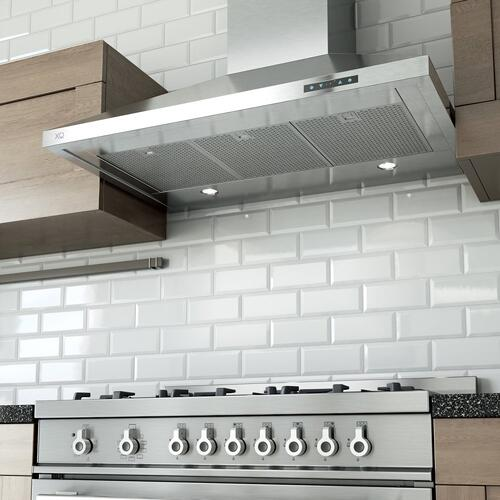 "600 CFM 30"" Italian Made Wall Mount Chimney Range Hood Stainless"