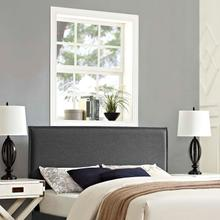 See Details - Camille Queen Upholstered Fabric Headboard in Gray