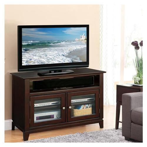 Marlowe 42-Inch TV Console Warm Ebony finish