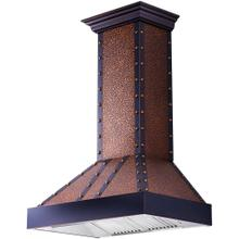 """ZLINE 36"""" Designer Series Embossed Copper Finish Wall Range Hood (655-EBBBB-36)"""