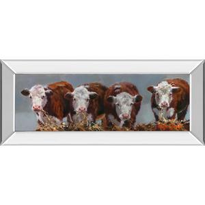 """""""The Diner's Club"""" By Carolyne Hawley Mirror Framed Print Wall Art"""