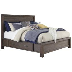 Dellbeck Queen Panel Bed With 4 Storage Drawers