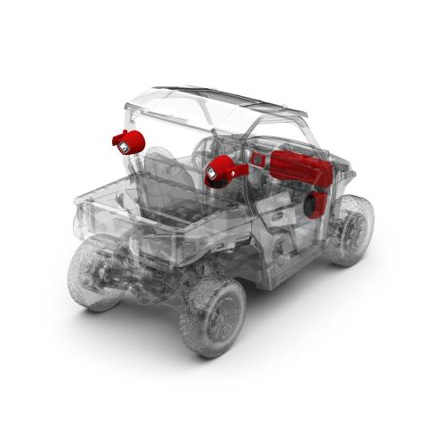 Rockford Fosgate - 400 watt stereo, front lower speaker, rear speaker, and subwoofer kit for select Polaris GENERAL® models