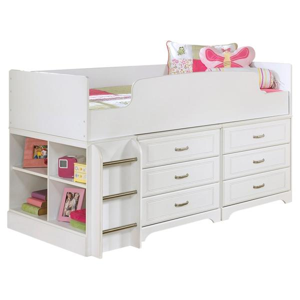 Lulu Twin Loft Bed With 6 Drawer Storage