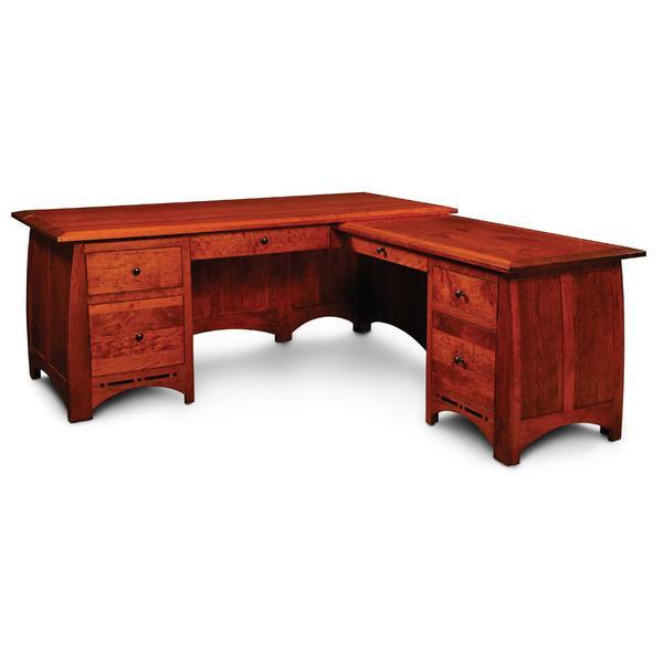 Aspen L-Shape Desk with Inlay, Left Return