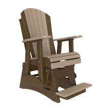 See Details - 2 Adirondack Balcony Glider Chair, Weatherwood-chestnut-brown