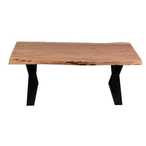 Manzanita Natural Acacia Coffee Table with Different Bases, VCA-CT48N