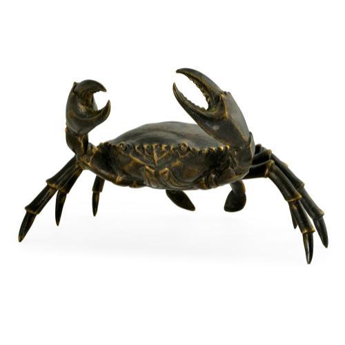 Crab in dark bronze