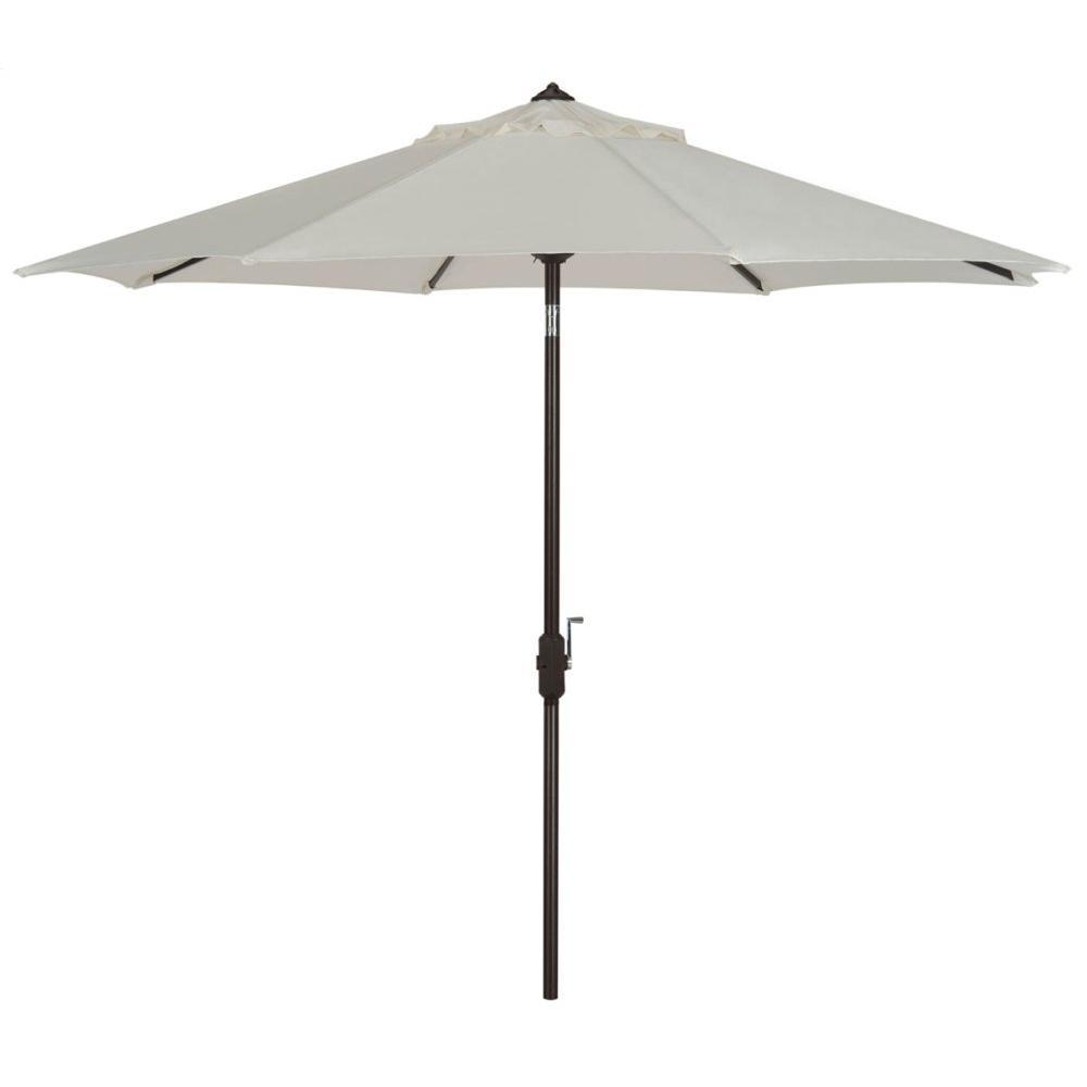 Uv Resistant Ortega 9 Ft Auto Tilt Crank Umbrella - Natural