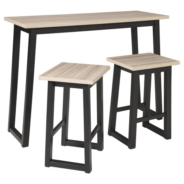 Waylowe Counter Height Dining Table and Bar Stools (set of 3)