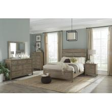 Harper Falls Lodge Grey King Bedroom Set: King Bed, Nightstand, Dresser & Mirror