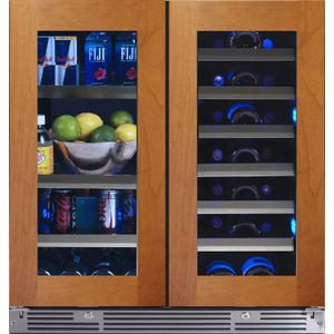 XO APPLIANCE30in Beverage/Wine Double Door Overlay Glass