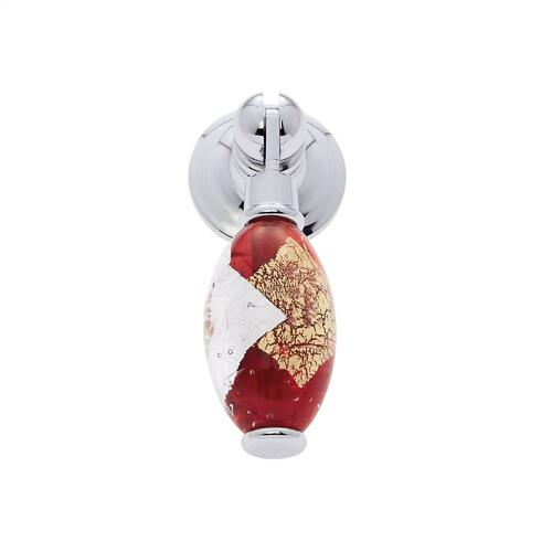Polished Chrome 30 mm Red Pendant Pull