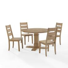JOANNA 5PC ROUND DINING SET