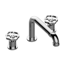 Deck-mounted bathtub mixer
