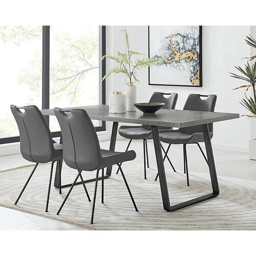 Coronado 5 Piece Grey Rectangular Dining Set