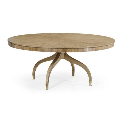 """Round 72"""" Bleached Walnut Dining Table"""