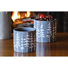 Round Snowy Tree Planter - Set of 2