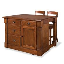Aspen 3 Piece Kitchen Island Set