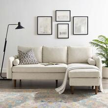Revive Upholstered Right or Left Sectional Sofa in Beige