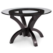 """View Product - Adeline Single Pedestal Table with Glass Top, 48"""" Round"""