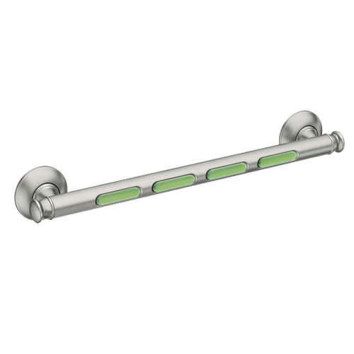 "Grab Bar brushed nickel 18"" designer grab bar"
