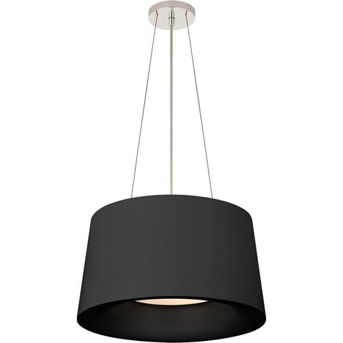 Visual Comfort BBL5089BLK Barbara Barry Halo 2 Light 19 inch Matte Black Hanging Shade Ceiling Light, Small