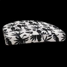 Product Image - SINGAPORE MACAU CUSHION  3in X 20in  Black Singapore Cushion. Vibrant colors and bold pattern choi