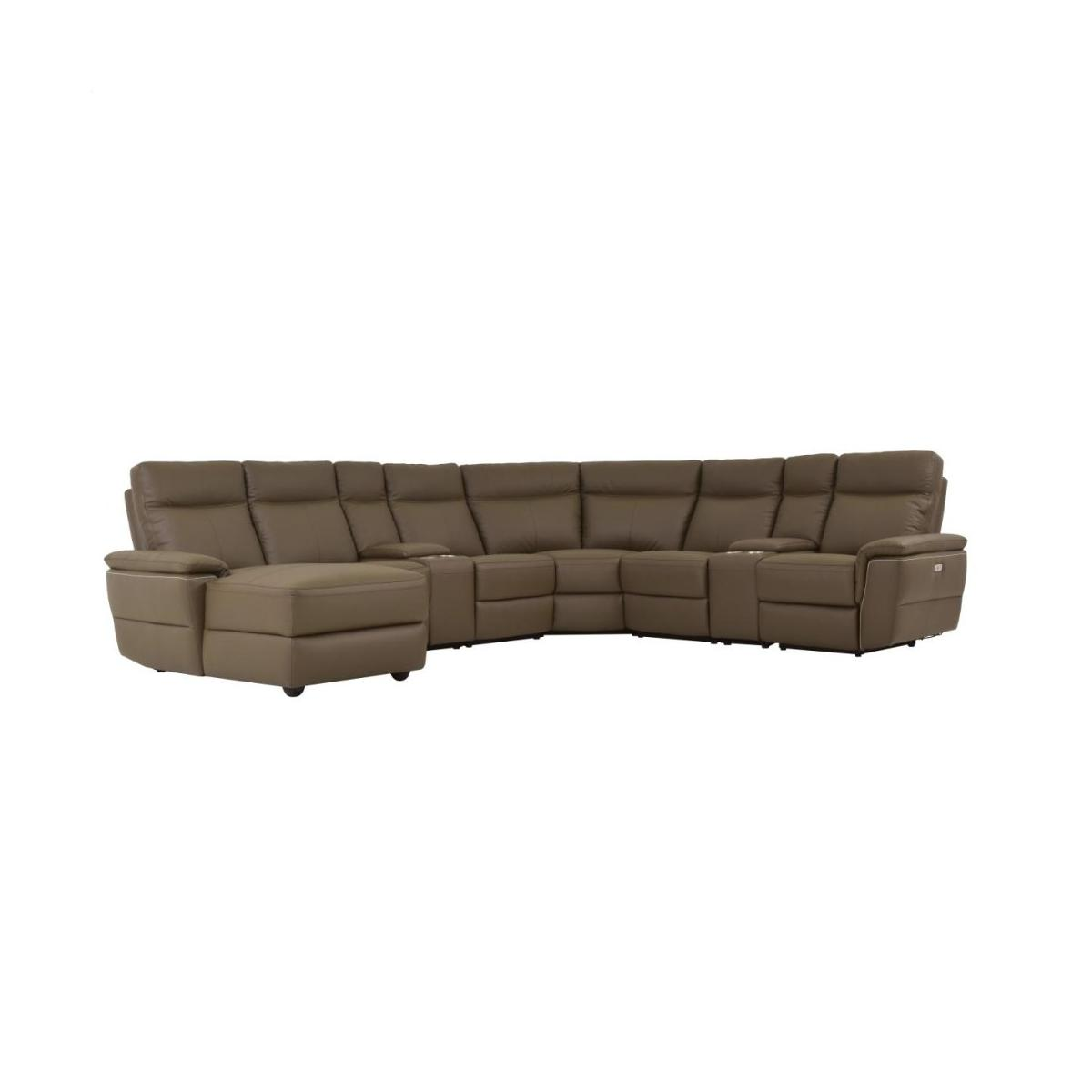 8-Piece Modular Power Reclining Sectional with Left Chaise