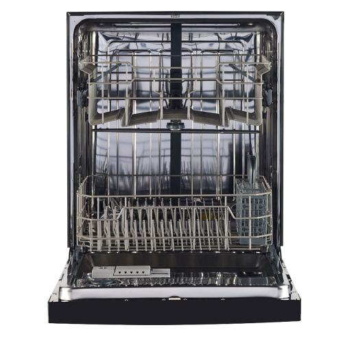"GE 24"" Built-In Stainless Steel Tall Tub Dishwasher Black GBF630SGLBB"