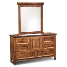 See Details - Rustic City 6 Drawer Dresser with Mirror