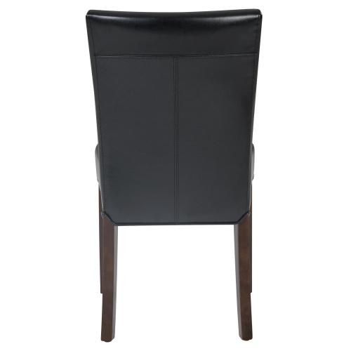 Beverly Hills Bonded Leather Chair, Black
