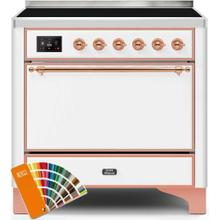 See Details - Majestic II 36 Inch Electric Freestanding Range in Custom RAL Color with Copper Trim