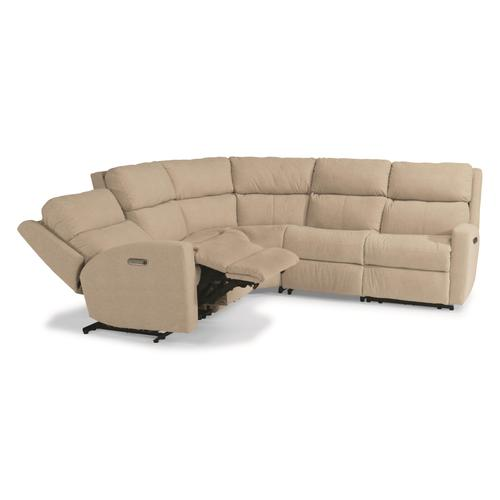 Flexsteel - Catalina Power Reclining Sectional with Power Headrests
