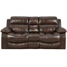 Positano Genuine Italian Leather Reclining Console Loveseat