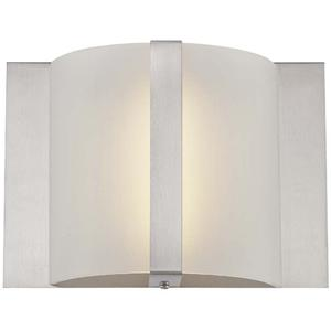 LED Wall Sconce, Ps/frost Glass Shade, Type LED 9w