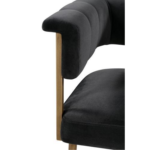 Tov Furniture - Astrid Grey Velvet Counter Stool