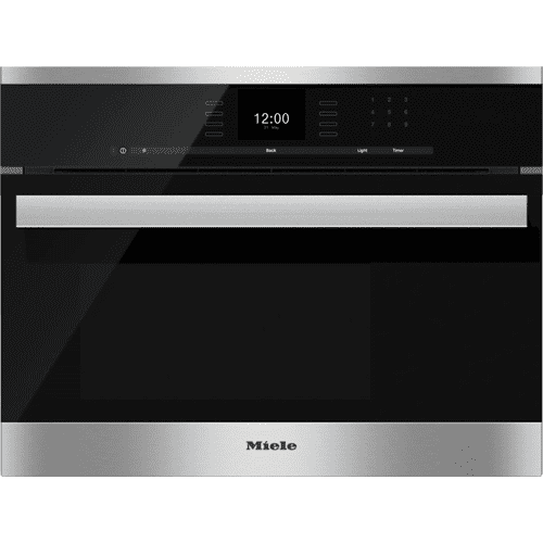 Built-in steam oven with a large text display and SensorTronic controls for extra convenience.