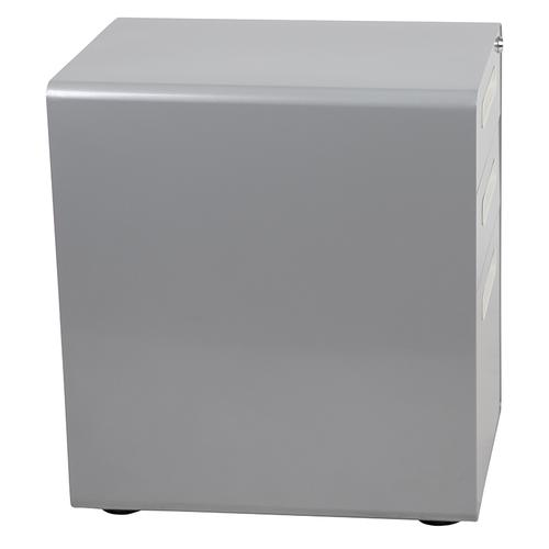 Flash Furniture - Ergonomic 3-Drawer Mobile Locking Filing Cabinet with Anti-Tilt Mechanism and Hanging Drawer for Legal & Letter Files, Gray