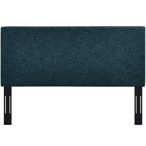 Taylor Twin Upholstered Linen Fabric Headboard in Azure