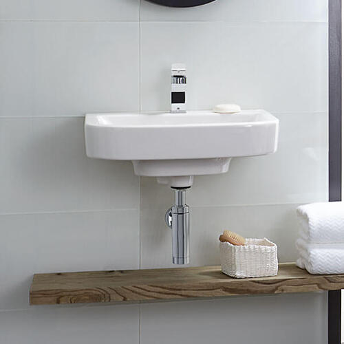 Equility 22 Inch Wall-Hung Bathroom Sink - Canvas White