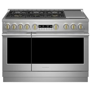 """MonogramMonogram 48"""" Dual-Fuel Professional Range with 6 Burners and Griddle (Natural Gas)"""
