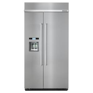 Kitchenaid25.0 cu. ft 42-Inch Width Built-In Side by Side Refrigerator with PrintShield™ Finish - Stainless Steel with PrintShield™ Finish